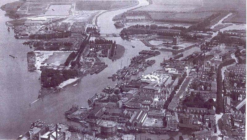 1-stadswerven-dordrecht-luchtfoto-begin-20e-eeuw